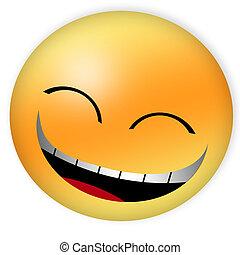 glückliches gesicht, smiley