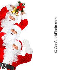 glückliches weihnachten, santa