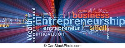 glühen, begriff, geschaeftswelt, hintergrund, unternehmertum
