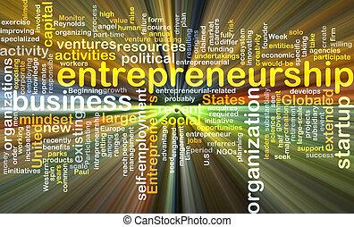 glühen, begriff, hintergrund, unternehmertum