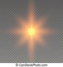 glühen, effekt, licht