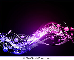 glühen, hintergrund, wellig, neon