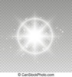 glühen, leichter effekt