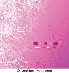 glühen, rosa, baum zweigt, quadrat, schablone, hintergrund