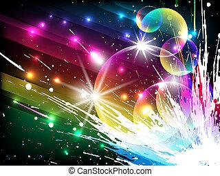 glühen, streifen, vektor