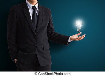 glühlampe, hand