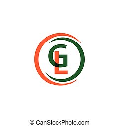 GL Company Logo Vector Template Design Illustration