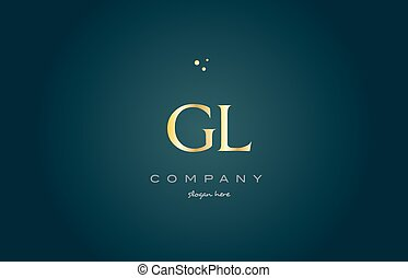 gl g l gold golden luxury alphabet letter logo icon template...