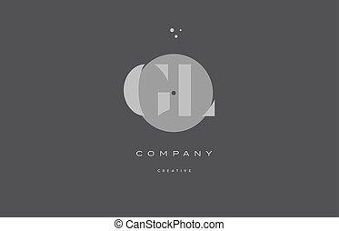 gl g l grey modern alphabet company letter logo icon - gl g...