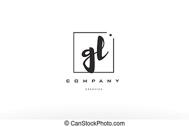 gl g l hand writing letter company logo icon design - gl g l...