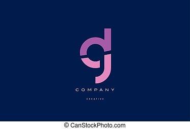 gl g l pink blue alphabet letter logo icon - gl g l pink...