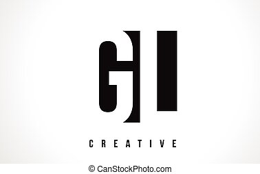 GL G L White Letter Logo Design with Black Square. - GL G L...
