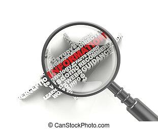 gl, informação, palavra, magnificar