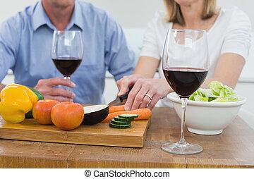 gla, セクション, 恋人, 中央の, ワイン
