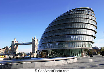 GLA Building. - Gla Building with Tower Bridge in the ...
