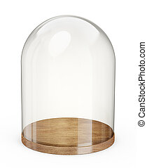 dome - glaas dome isolated on a white background. 3d...