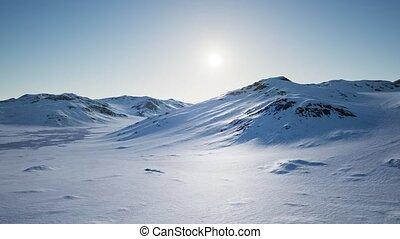 glacé, aérien, neigeux, rivages, montagnes, antarctique, ...