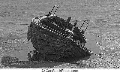 glace, bateau