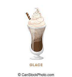 Glace coffee glass.