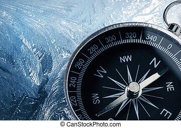 glace, compas