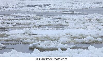 glace, dérive