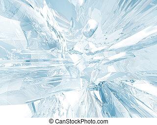 glace, fond