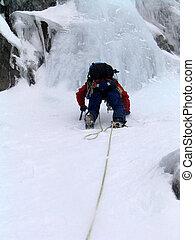 glace hiver, grimpeur