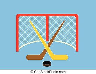 glace hiver, sports, arrière-plan., conception, hockey, portail