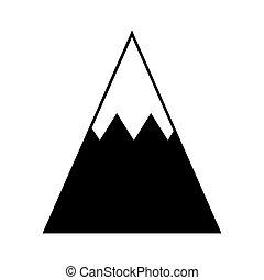 glace, icône, pic, montagne