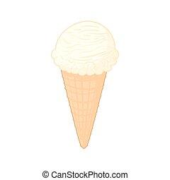 Cr me vanille c ne glace dessin anim nourriture dessert vanille glace figure glace - Vanille dessin ...