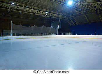 glace, vide, arène, hockey, patinoire