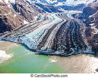 Glaciär, medborgare, Parkera, vik