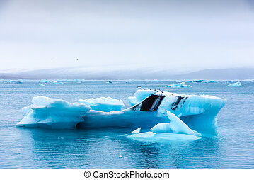 glacial, laguna de jokulsarlon, icebergs