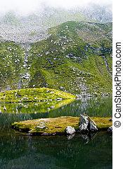 Glacial lake in Fagaras