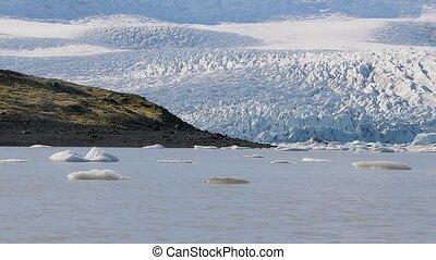 Glacial lake in Iceland - Glacial lake FJallsarlon, Iceland...