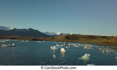 Glacial lake in Iceland