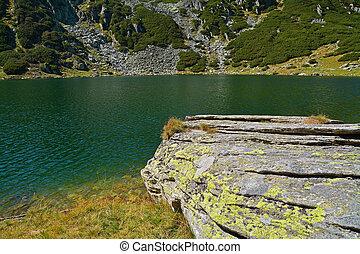 Glacial lake in retezat national park, romania