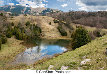 Glacial lake in the Catalan Pyrenees