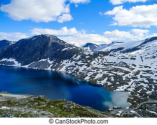 Glacial lake in the Dalsnibba Mount, Norway