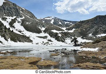 Glacial lake in the Madriu-Perafita-Claror valley