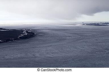 Glacial and ice dome. North island, Novaya Zemlya. Kara Sea, Siberia