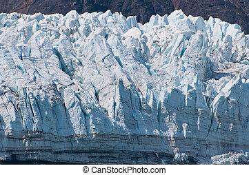 glacial, primer plano, textura