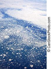 glaciar, derretir