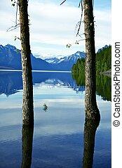 glaciar, puerta, naturaleza