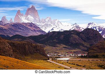 glaciares, cerro, torre