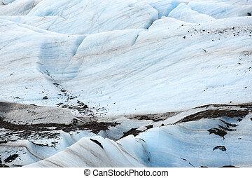 glacier., 光景, 小片