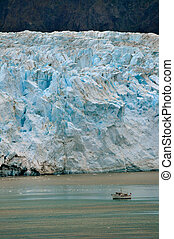 Glacier and Boat Portrait