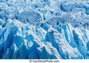 glacier, argentine, détail, perito, moreno