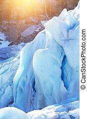 glacier at the norway