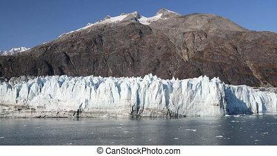 Glacier Bay Alaska cruise vacation travel view of Margerie Glacier